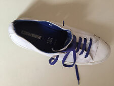 CONVERSE maschile in pelle bianca ALL STAR TG UK 10