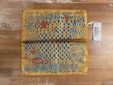 """VIVIENNE WESTWOOD yellow """"Time to Act"""" orb silk pocket square authentic - NWT"""