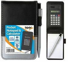 Tiger police style pocket notebook with pen and calculator