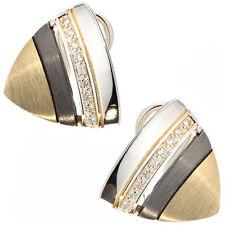 Orecchini con diamanti in argento