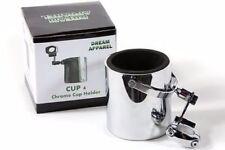 Motorcycle Cup Holder Chrome Handlebar Drink Bottle Holder for Harley Universal