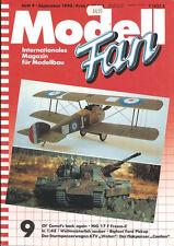 MODELL FAN 9/90 WW1 SOPWITH CAMEL_A7V_YPR 806_MIG-17F_US ARMY TRUCKS_FLAKPANZER