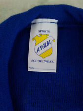 2 Royal blue v neck school uniform jumpers girls boys Size 32 chest