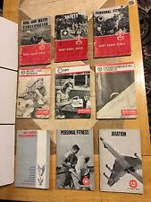 Lot Of 9 Vintage 1960-1980 Boy Scouts Merit Badge Series  Requirements Aviation