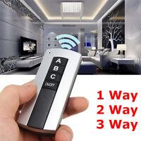 1/2/3/4 Way Light Lamp Digital Wireless Remote Control Switch ON/OFF 220V
