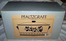 Pfaltzgraff Ceramic Bread Box With Lid Handles Yorktowne Pattern
