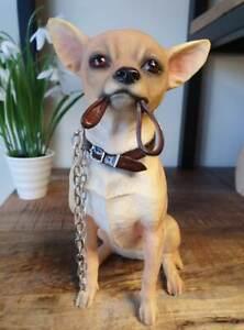 Lifelike Tan Chihuahua Ornament - Quality Dog Figurine, Gift Boxed