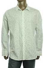 New Mens American Rag Cie Tossed Tile Print Cotton Fresh Mist Casual Shirt XXL