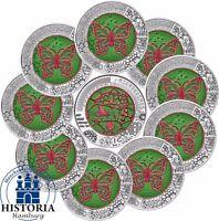 10 Münzen 25 Euro Mikrokosmos Österreich Niob 2017 Silber im Etui mit Zertifikat