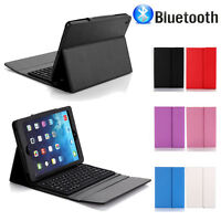 New For iPad 2 3 4 Stand Leather Case Cover with Bluetooth Keyboard