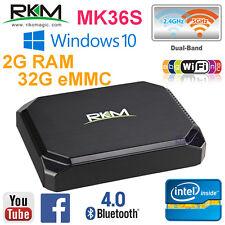 RKM MK36S Windows 10 Cherry Trail Z8300 64bit Mini PC TV Media Box KODI WiFi