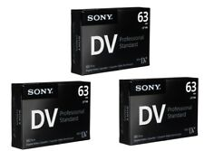 3 x Sony Professional Mini DV Blank Camcorder Video Tapes SP63 LP94 mins - NEW