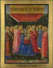 Metal Sign Benozzo Gozzoli The Virgin And Child With Angels A4 12x8 Aluminium