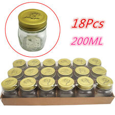 200ml Glass Mason Jars Metal Lids Spice Storage Kitchen Candy Lolly Bottles Bulk