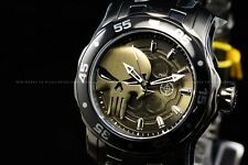 """Invicta 48mm Marvel Scuba Pro Diver """"PUNISHER"""" Limited Edition GunMetal SS Watch"""