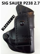 "BLACKHAWK! 420433BK-R INSIDE WAISTBAND HOLSTER RH SIG SAUER P238 2.7"" w/wo LASER"