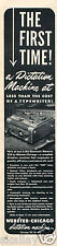 1951 Print Ad of Webster Chicago Electric Memory 228 Dictation Machine