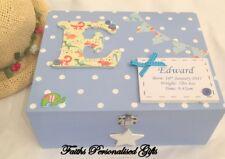 Personnalisé Bébé Fille/Garçon En Bois Baptême/Naissance souvenir/Memory Box