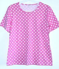 Marimekko MIKA PIIRAINEN Short Sleeve Polka Dot Pattern Cotton Shirt Size M/L