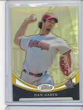 DAN HAREN 2010 TOPPS FINEST GOLD REFRACTOR #D 8/50