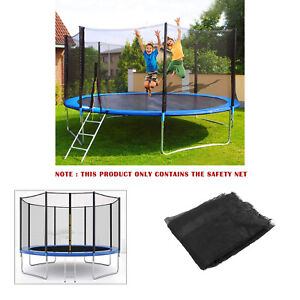 8FT 6 Poles Trampoline Replacement Safety Net Enclosure Surround Outside Netting