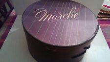 Vintage - Marche Round Hat Box 14X7