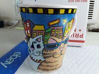 Vintage 2003 Catzilla ~ Candace Reiter Designs Tall Cat Mug