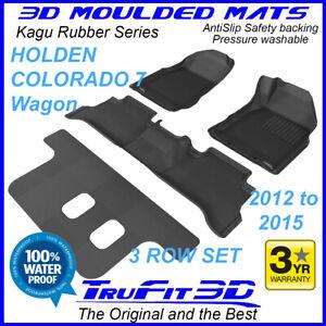 For Holden Colorado 7 Wagon 2012 -2015 Genuine 3D Black Rubber Car floor Mats 3R