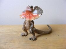 Klima Frilled Neck Lizard Standing Miniature Animal Figurine Support Wildlife
