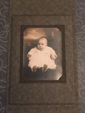 Antique Baby Cabinet Photograph in Folder Frame