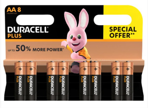 DURACELL AA BATTERIES 8 PACK +50%PWR 2030 Expiry SPECIAL OFFER SAME DAY DESPATCH