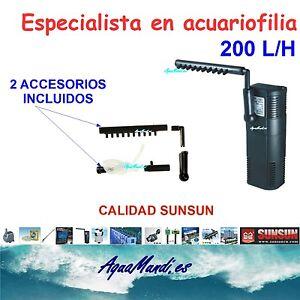 filtro interior interno acuario 200 L/H