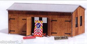 Busch 1456 Fahrzeughalle, H0 Modellwelten Bausatz, Modell 1:87