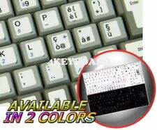 ITALIAN NETBOOK KEYBOARD STICKER WHITE