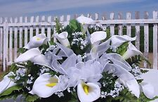 Calla Lily Cemetery Spray Table Flowers Petite Bouquet Sympathy Funeral Home