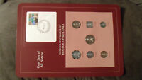 Coin Sets of All Nations Sri Lanka w/card UNC 1978 but Rupee, 25 & 50 Cents 1982