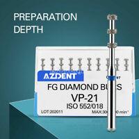 1 XDental FG Diamond Burs For High Speed Handpiece VP-21 Depth Marking 10pcs/box