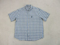 Columbia Button Up Shirt Adult Extra Large Blue Plaid Casual Camp Outdoors Mens