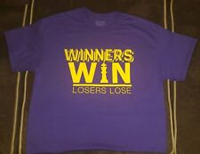 Winner's Win - Purple/Gold Tee by Uplift Tees Unisex L, XL, NEW