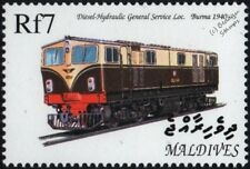 Burma Railways Krauss-Maffei 1500 h.p. Diesel-Hydraulic Train Locomotive Stamp