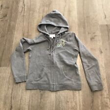 Romeo & Juliet Girls Gray Embroidered Hoodie Size L Preowned