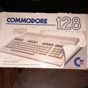 Vintage Commodore 128 c128 Personal Computer w/Power Supply Manuals System Disks