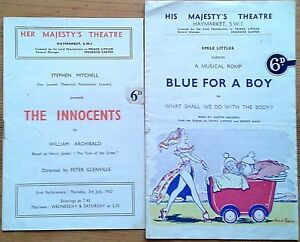 Individual His / Her Majesty's Theatre programmes 1950s, West End programme