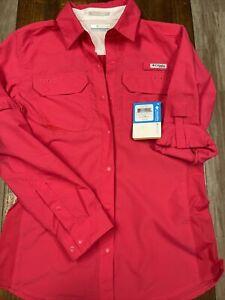 Womens Columbia PFG Omni-Freeze Advanced Cooling button down shirt size small