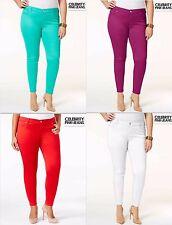 NWT $59.00 Sz 20 & 22 Plus Celebrity Pink Skinny Stretch Jeans Green,Red,White