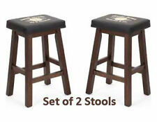Pair of 2 Guinness Saddle Stools - 30 Inch Seat Height - Bar Height