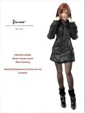 "Dollsfigure 1/6 Scale Black WDown jacket+Stockings For 12"" FeMale Body"