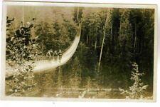 CAPILANO CANYON SUSPENSION BRIDGE,FRANK GOWEN PHOTO,1917 ARTIST SIGNED PC