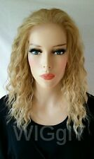 JOY | BLONDE | MEDIUM | CURLY/WAVY | SYNTHETIC LACE FRONT WIG | IT'S A WIG