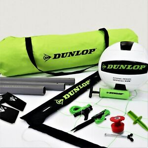 Dunlop Quick Setup Competitive Outdoor Volleyball Set, Green/Black